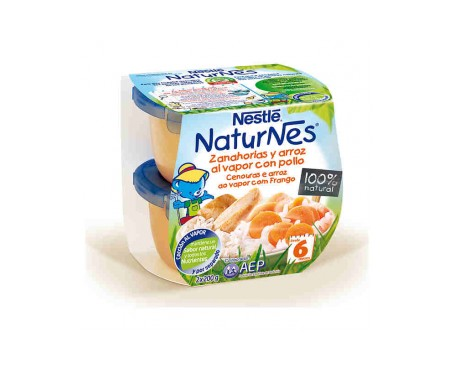 Naturnes Zanahorias Y Arroz Con Pollo  200 G 2 U