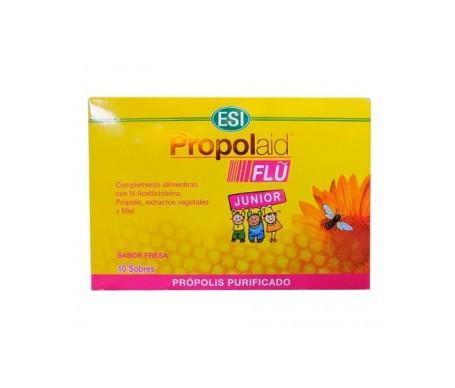 ESI Propolaid Flu Junior própolis purificado sabor fresa 10 sobres