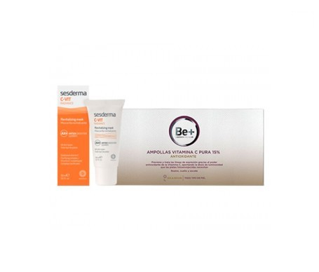 Sesderma C-Vit Radiance Mask 30ml + Be+ 10amp Antioxidant Ampoules