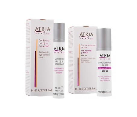 Atria Crema idrorepellente antiage diurna SPF20+ Pelle normale/miscelata 50ml + Contorno occhi 15ml