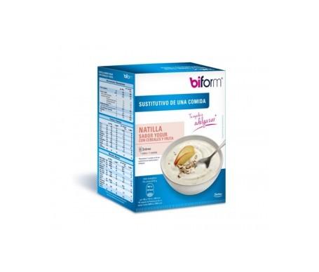 Biform natillas yogur de cereales y fruta 6 sobresx50g