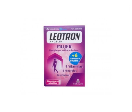 Leotron mujer (energy & beauty) 30comp