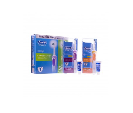 Oral-B® Pack Vitality CrossAction cepillos eléctricos 2uds
