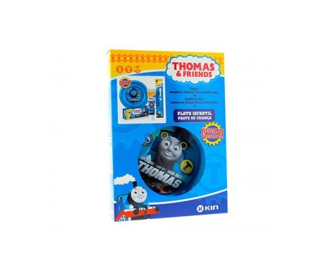 Kin Thomas & Friends Pasta + Cepillo + Plato Infantil