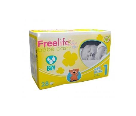 Freelife Cash 1 pañal bebé recién nacido 2-4kg 28uds