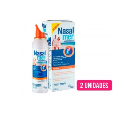 Nasalmer® spray nasal hipertónico adulto 125ml+125ml