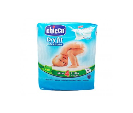 Chicco Pañales Dry Fit Advanced Maxi T4 8-18 Kg 19 Unidades