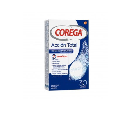 Corega Total Action 30 Tabletas