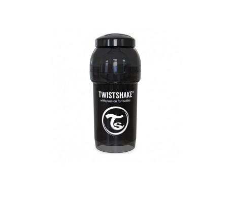 Twistshake Biberon Anticolico 330ml Negro