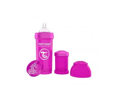 Twistshake biberón anticólicos color lila 260ml