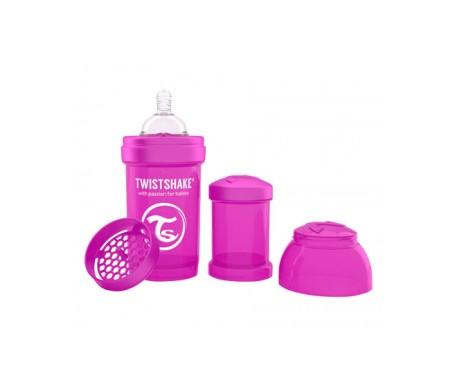 Twistshake biberón anticólicos color lila 180ml
