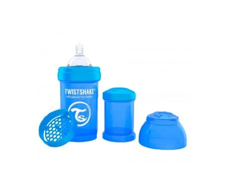 Twistshake biberón anticólicos color azul 180ml