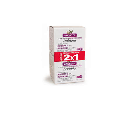 Babaria Crema Facial Hidratante Almendras 100ml 2x1