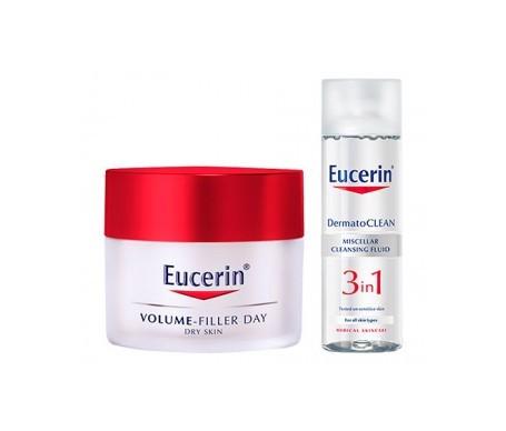 Eucerin® Volume-Filler día pieles secas 50ml + Dermatoclean 3 en 1 200ml