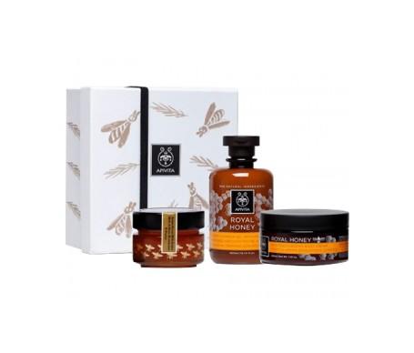 Apivita Pack jalea real gel + crema corporal + miel apigea