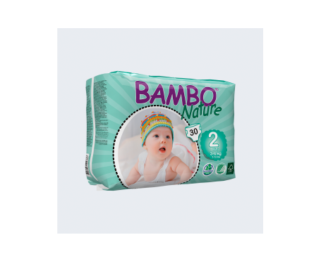 Bambo Nature pañales T-2 Midi 3-6kg 30uds