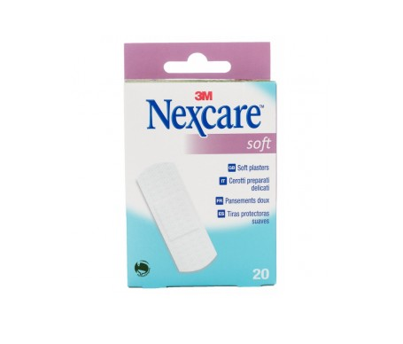 Nexcare® Soft apósitos 19x76mm 20uds