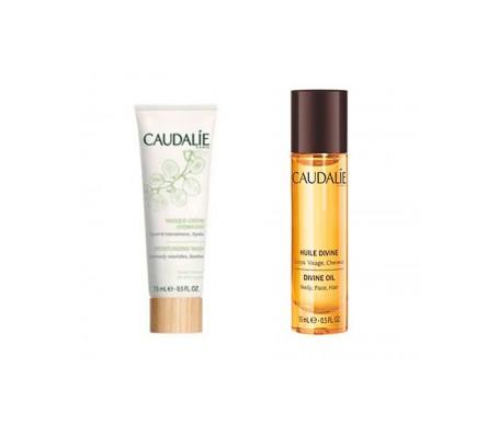 Caudalie Pack Mascarilla-crema hidratante 15ml + Aceite divino 15ml