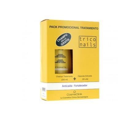 Triconails Capsule Perdita Capelli Pack 56 pz + Anti-forforfora Shampoo 250ml