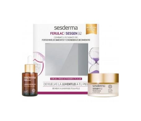 Sesderma Pack Ferulac siero anti-età 30ml + Sesgen 32 cell activating cream 50ml