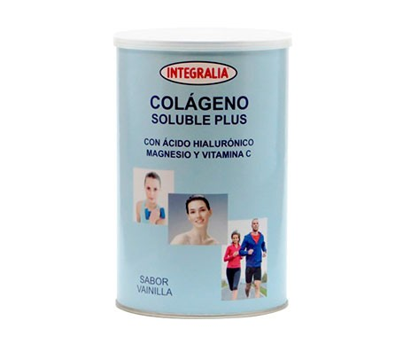 Integralia Colágeno Soluble Plus hialurónico magnesio sabor vainilla 360g