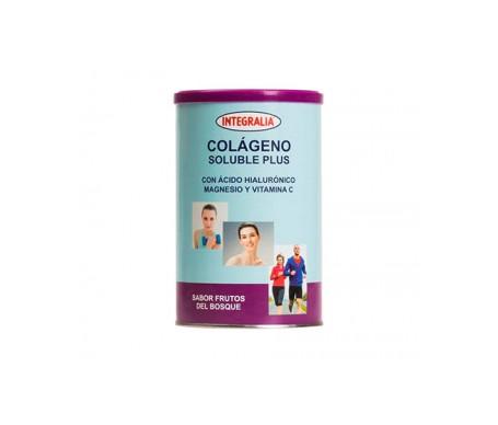 Integralia Colágeno Soluble Plus hialurónico magnesio sabor frutas del bosque 360g