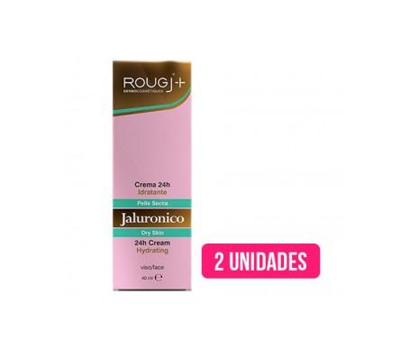 Rougj 24H crème hydratante hyaluronique pour peaux sèches 40ml+40ml
