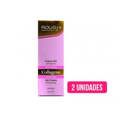 Rougj crema 24h hidratante colágeno 40ml+40ml