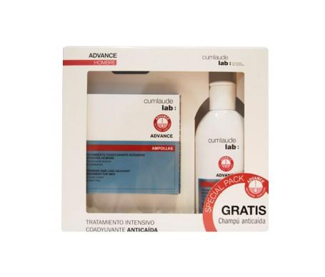 Cumlaude Advance Uomo Hair Loss Trattamento 15 fiale + Shampoo Perdita Capelli 200ml