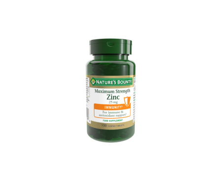 Nature's Bounty Zinc 25 Mg 100 Comprimidos