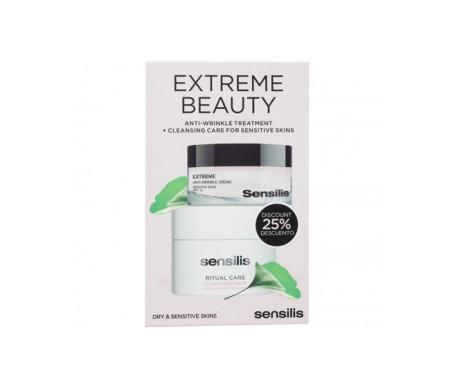 Sensilis Pack Extreme crème anti-rides 50 ml + baume nettoyant 75 ml