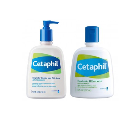 Cetaphil™ cleansing lotion 237ml + moisturising emulsion 237ml
