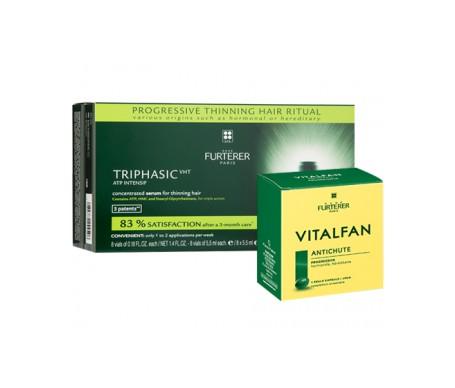 René Furterer Triphasic VHT 8amp + Vitalfan Caóda Progresiva 30cáps