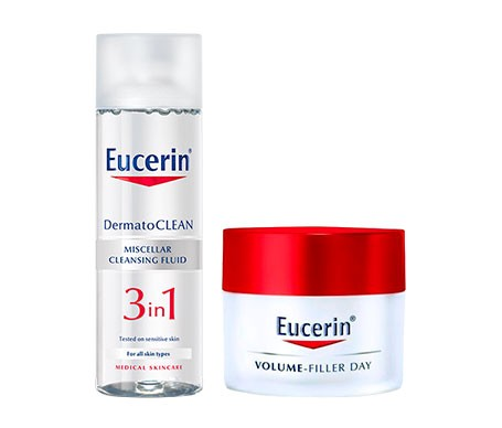 eucerin pack volume-filler pieles N/M 50ML + Micelar 200ml