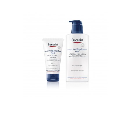 Eucerin® Urea Repair Plus crema de manos 75ml + loción 10% 400ml