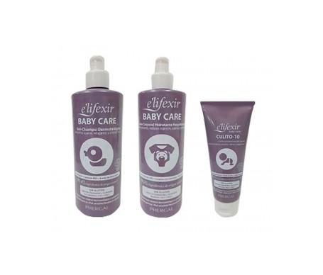 E'lifexir Pack Baby Care leche corporal + gel-champú + crema pañal
