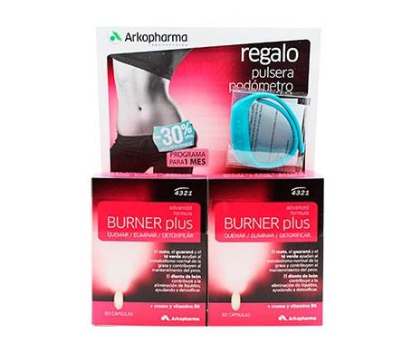 Arkopharma Burner Plus 60cáps+60cáps + Pulsera Podómetro