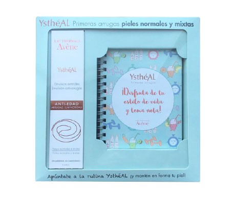 Avène Ystheal First Wrinkle Pack Normal and combination skin wrinkles anti-wrinkle emulsion 30ml + notebook and recipe booklet gift