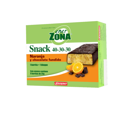 EnerZona Snack Naranja y chocolate fundido 8 barritas