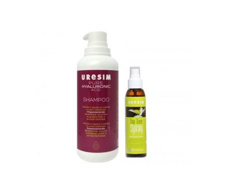 Uresim Pack tè albero olio spray 125ml + puro acido ialuronico shampoo 400ml