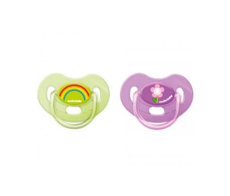 Acofar baby Pack chupete latex 6-12 meses 2uds