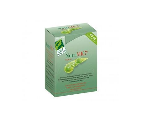 100% Natural Nutri MK7 Calcio 60 Perlas de 45mcg