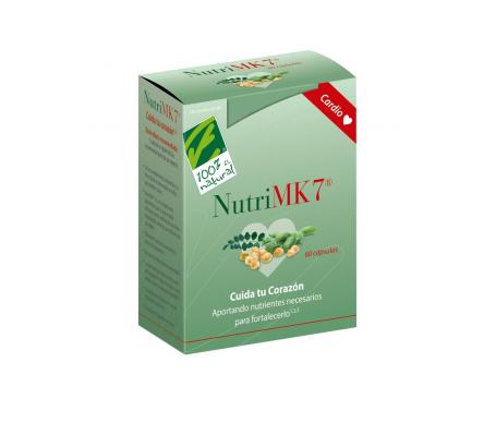 100% Natural Nutri MK7 Calcio 60 Perlas de 90mcg