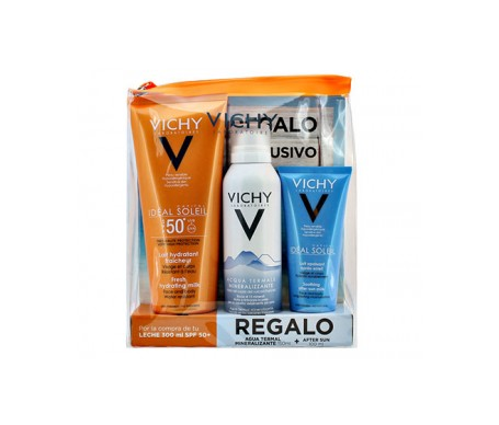 Vicky Pack Idéal soleil hidra-lecha SPF50+ agua termal 150ml + aftersun 100ml