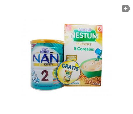 Nestlé Nan Expert 2 Leche de continuación 800g + Nestum Expert 5 cereales 600g