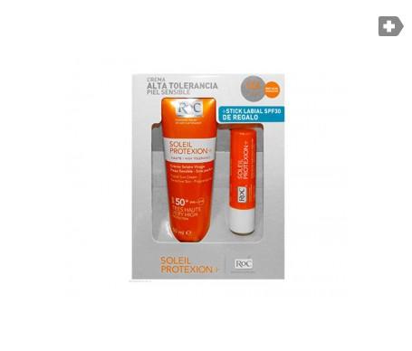 Roc Soleil Protexion SPF50 Crema facial sin perfume + Stick labial SPF30