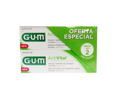 Gomme Activital Q10 Pack dentifrice 2x75ml