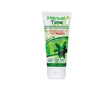 Herbal Time Mascarilla brillo y elasticidad, con té verde y aceite de oliva 200ml