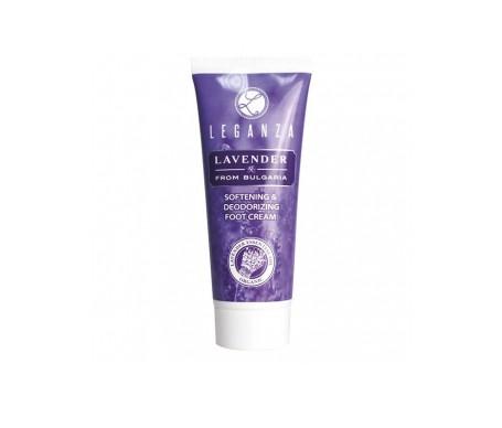 Leganza Crema suavizante y desodorante para pies con aceite esencial de lavanda búlgara 75 ml