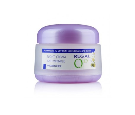 Regal Q10+ Cream Anti-Wrinkle Night With Oil Baobab & Elweiss Normal to Dry Skin 50 ml